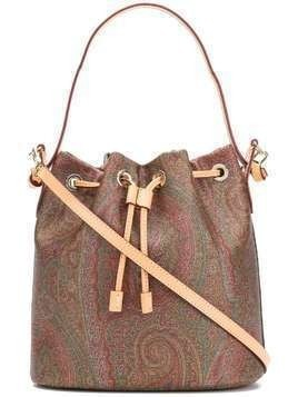 Etro paisley-print bucket bag - Brown