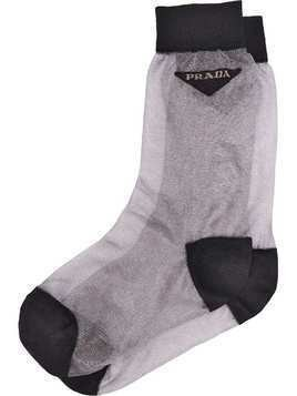 Prada light nylon socks - Grey