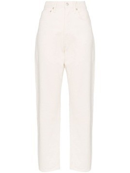 AGOLDE high-waisted straight leg jeans - White