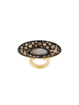 Loree Rodkin diamond disc ring - Metallic