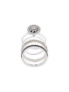 Wouters & Hendrix Gold diamond set of 4 rings - Grey