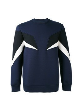Neil Barrett geometric panelled sweatshirt - Blue