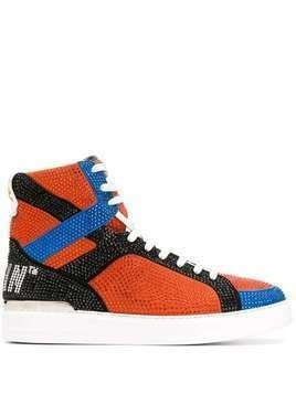 Philipp Plein Money Beast high-top sneakers - ORANGE
