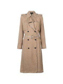 Alexander Wang long trench coat - Nude&Neutrals
