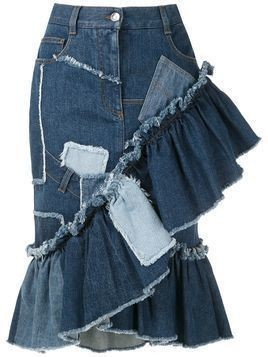 Dolce & Gabbana patchwork denim skirt - Blue