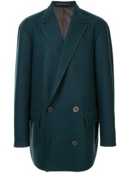 Kolor double-breasted fitted coat - Blue