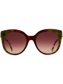 Burberry Buckle Detail Cat-eye Frame Sunglasses - Red