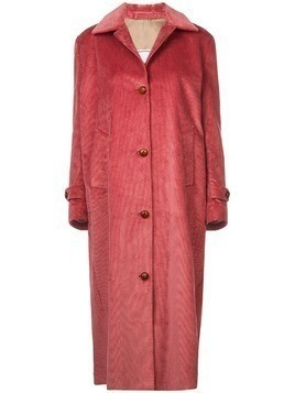 Giuliva Heritage Collection corduroy single-breasted coat - Pink