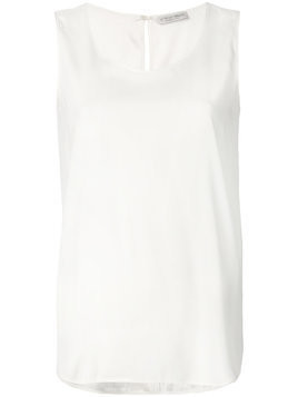 Le Tricot Perugia flared sleeveless top - White