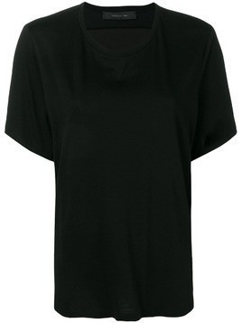 Federica Tosi fold details top - Black