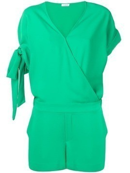 P.A.R.O.S.H. tie cuff playsuit - Green