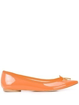 Repetto bow detail ballerinas - ORANGE