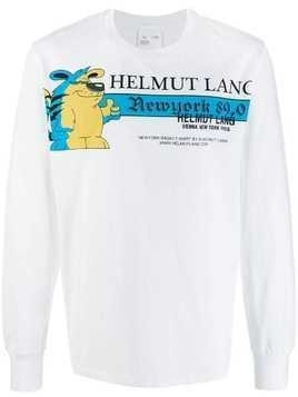 Helmut Lang graphic print sweatshirt - White