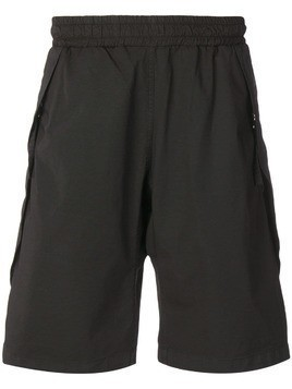 Low Brand wide-leg track shorts - Black