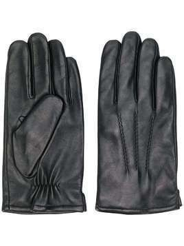 Karl Lagerfeld smooth finish gloves - Black