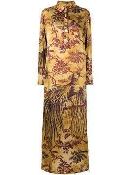 F.R.S For Restless Sleepers long botanical print shirt dress - Yellow