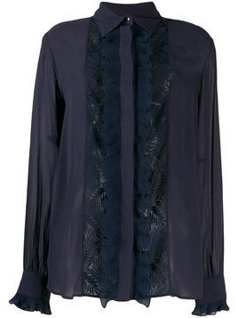 Just Cavalli lace panel blouse - Blue