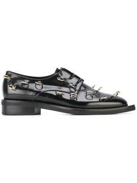 Coliac piercing embellished Derby shoes - Black