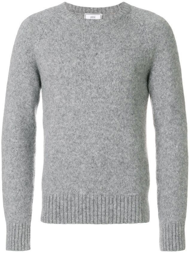 Ami Alexandre Mattiussi Raglan Sleeves Crewneck Sweater - Grey