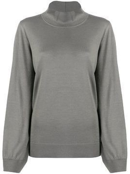 Fabiana Filippi funnel neck jumper - Grey