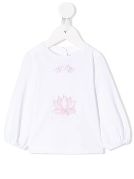 Baby Dior long-sleeve printed blouse - White