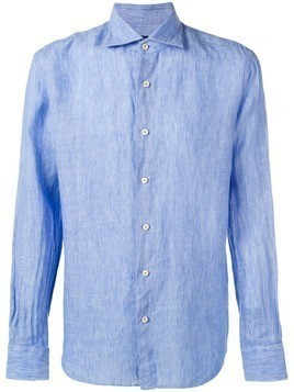Alessandro Gherardi crinkle effect button-up - Blue