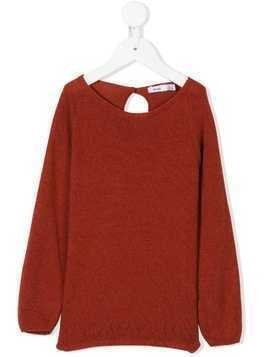 Knot basic knit sweater - Red