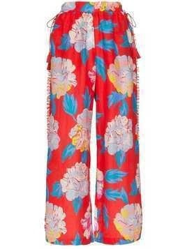 A Peace Treaty talla floral print trousers - Red
