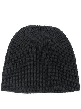 Lamberto Losani ribbed knit beanie - Black