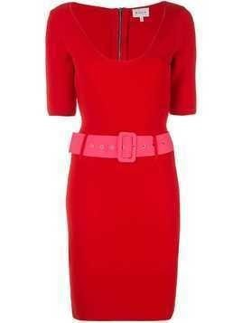 Milly belted mini dress - Red
