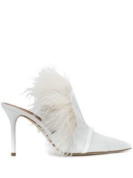 Malone Souliers embellished stiletto mules - White