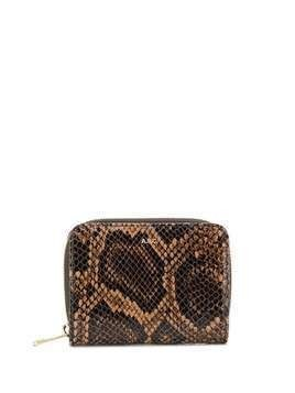 A.P.C. Emmanuelle snakeskin effect wallet - Brown