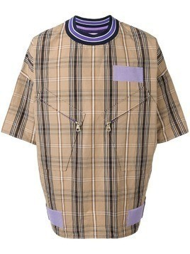 A(Lefrude)E oversized plaid T-shirt - Brown