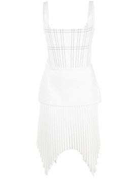 Dion Lee pleated mini dress - White