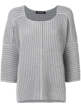 Iris Von Arnim ribbed knit jumper - Grey