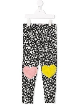 Bang Bang Copenhagen Sweet knees heart detail leggings - Black