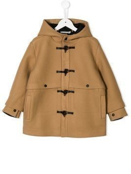 Stella McCartney Kids hooded duffle coat - NEUTRALS