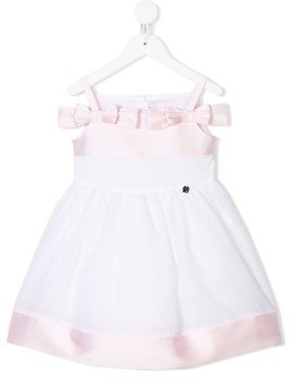 Simonetta sleeveless bow dress - White
