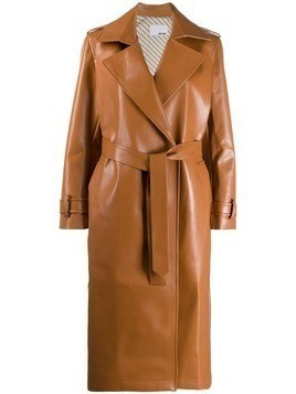 Each X Other vegan leather trench coat - Brown