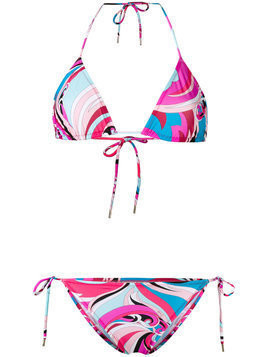 Emilio Pucci printed swimsuit - Pink & Purple
