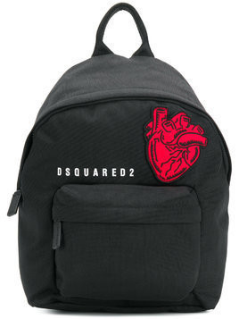 Dsquared2 Heart patch backpack - Black