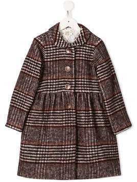 Caffe' D'orzo Bea houndstooth flared coat - Pink