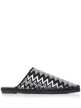 Castañer X Missoni Items zig-zag patterned mules - Black
