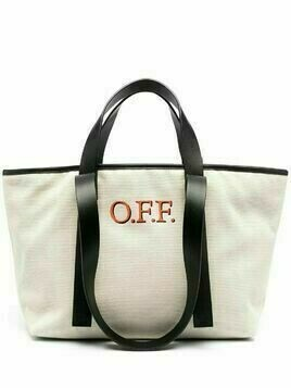 Off-White small commercial tote bag - Neutrals