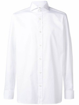 Borrelli plain button shirt - White