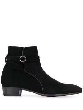 Lidfort buckle detail boots - Black