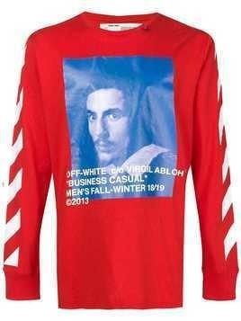 Off-White Diag Bernini sweatshirt - Red