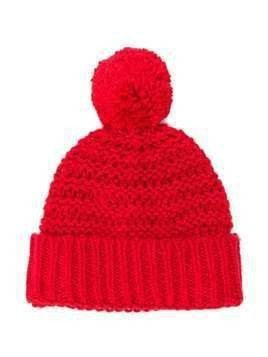 Stella McCartney Kids knitted bobble hat - Red