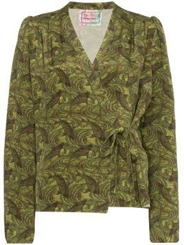 By Walid Haidee Japanese print blouse - Green