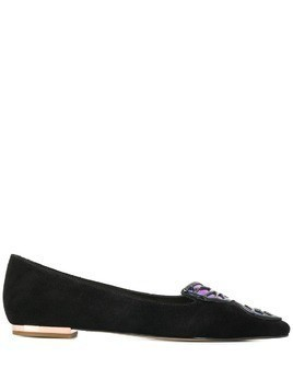 Sophia Webster butterfly ballerina shoes - Black